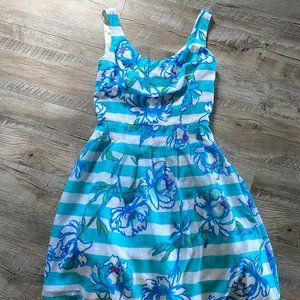 Lily Pulitzer Floral Striped Dress